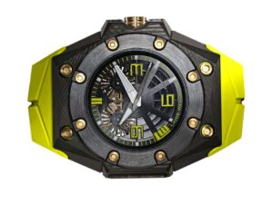 Linde Werdelin Oktopus Double Date 3DTP Yellow Watch